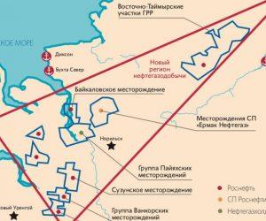 «Восток Ойл» карта